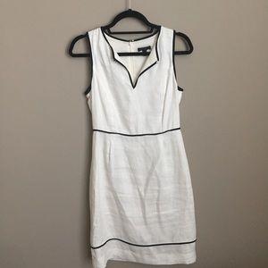 JCrew White Linen Dress